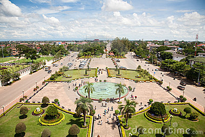 Vientiane, capital of Laos.