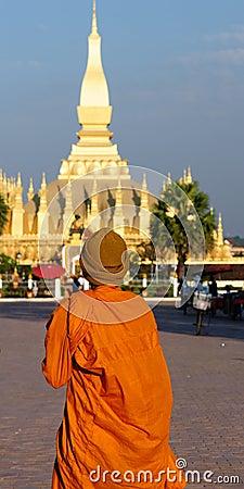 Vientiane - Pha That Luang Editorial Stock Image