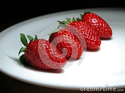 Vier aardbeien