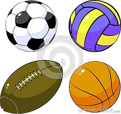 Vier ballen