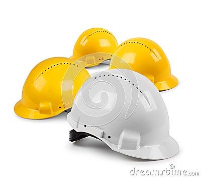 Vier bouwvakkerteam