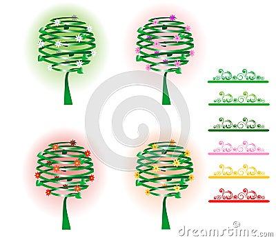 Vier Bäume