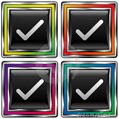 Vier controles van vierkanten