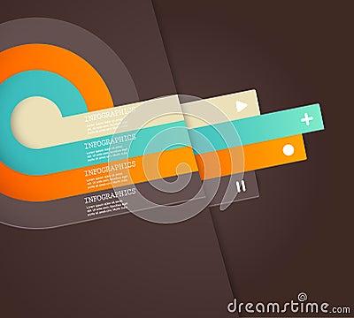 Vier färbten Streifen mit Platz für Ihren eigenen Text.