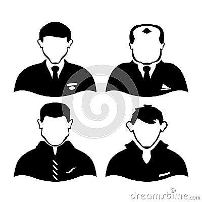 Vier mensen van verschillende beroepen