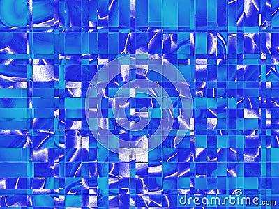 Vierkant blauw