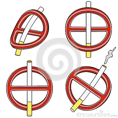 È vietato per fumare (segno quattro 3d)