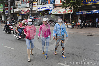 Vietnam - air pollution Editorial Photography