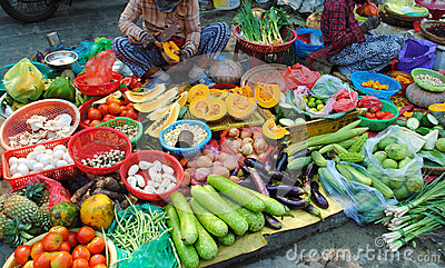 Vietnam food market Stock Photo: Vietnam food market Vietnam Food Market Stock Photo - Image: 74716608 - 웹