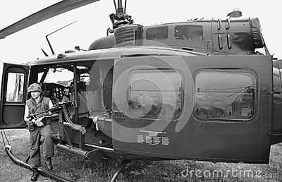 Vietnam grunt, downtime (re-creation) Editorial Stock Image