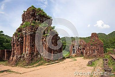Vietnam Khmer temple ruins