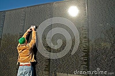 Vietnam Memorial Wall Rubbing Stock Photo Image 455900