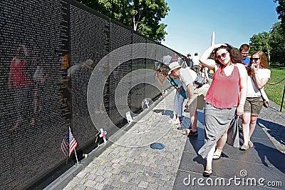 Vietnam Memorial in Washington DC Editorial Image