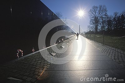 Vietnam Veterans Memorial Wall Editorial Stock Image