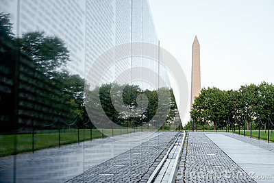 The Vietnam Veterans Memorial in Washington D. C. Editorial Stock Photo