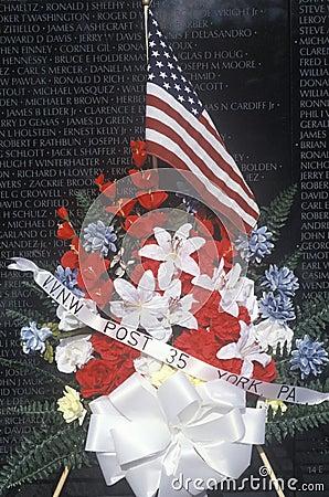 Vietnam Wall Memorial Editorial Photography