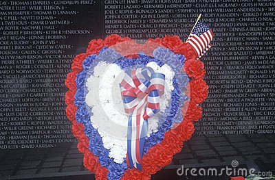 Vietnam Wall Memorial Editorial Stock Image
