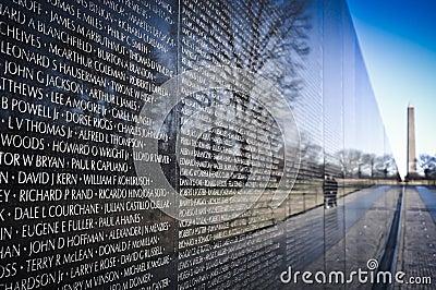 Vietnam War Memorial Editorial Image