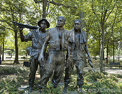 Vietnam war memorial statues Editorial Image