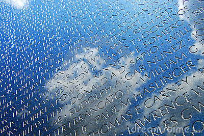 Vietnam War Veterans Memorial in DC Editorial Stock Photo