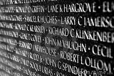 Vietnam war veterans memorial in Washington DC Editorial Photography