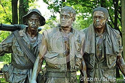Vietnam war veterans memorial in Washington DC Editorial Stock Photo