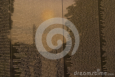 Vietnam War Veterans Memorial Editorial Photo