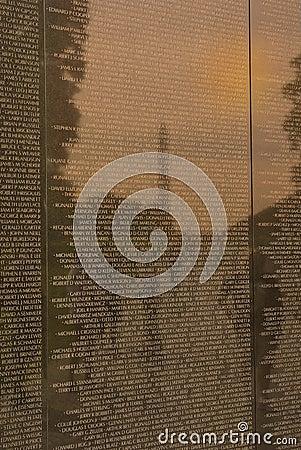 Vietnam War Veterans Memorial Editorial Stock Image