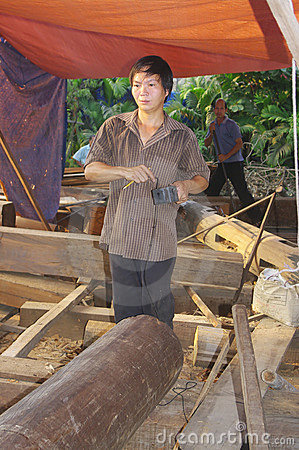 Vietnamese carpenter Editorial Photography