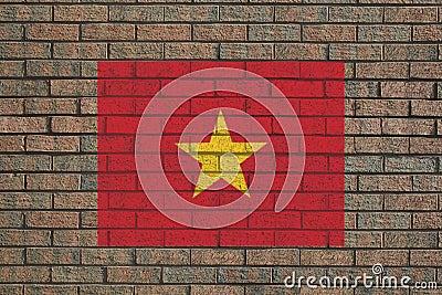 Vietnamese flag on wall