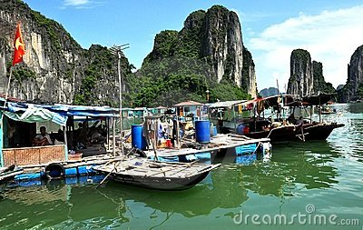 Vietnamese Floating Fishing Village