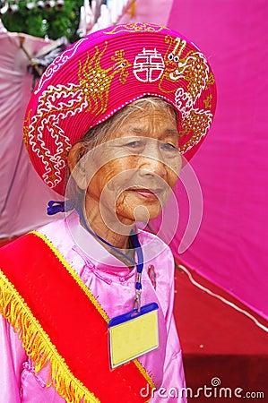 Vietnamese grandmother in Ao Dai