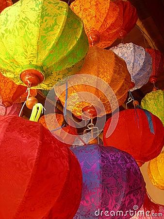 Free Vietnamese Lanterns Royalty Free Stock Photo - 707665