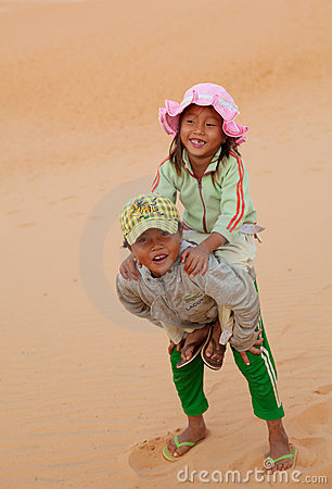 Vietnamese Local Children Editorial Stock Photo