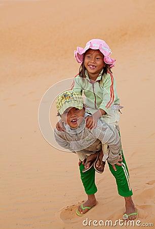 Vietnamese Local Children Editorial Stock Photo