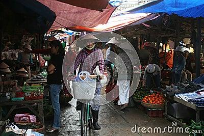Vietnamese market Editorial Image