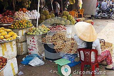 Vietnamese Market Editorial Stock Image