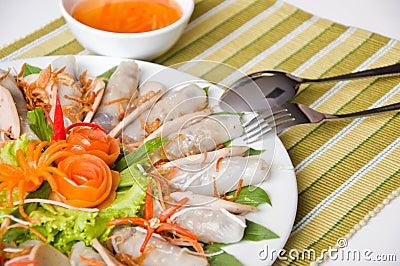 Vietnamese minted pork spring roll
