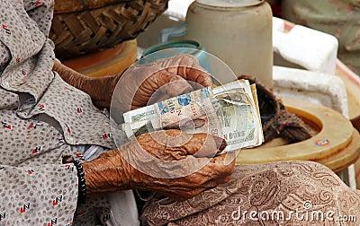 A Vietnamese old woman