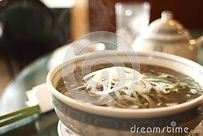 Vietnamese pho noodles