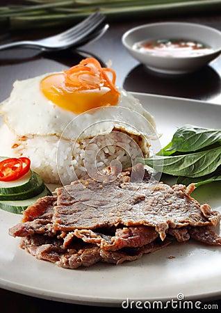 Vietnamese pork chop rice