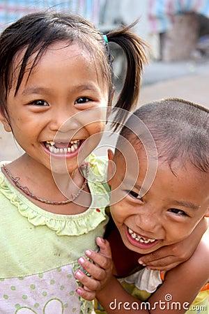 Vietnamesiska barn Redaktionell Bild