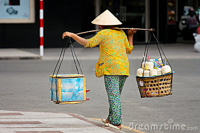 Vietnamita local Foto editorial