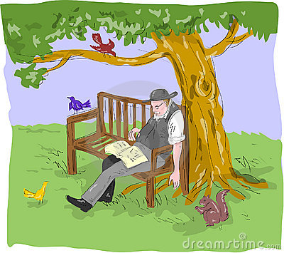 Vieux banc de sommeil d homme aîné