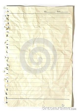 Vieux carnet