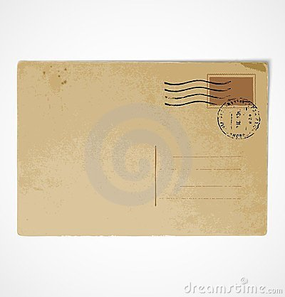 Vieux Dos De Carte Postale De Cru Photographie stock libre de droits - Image: 24090037