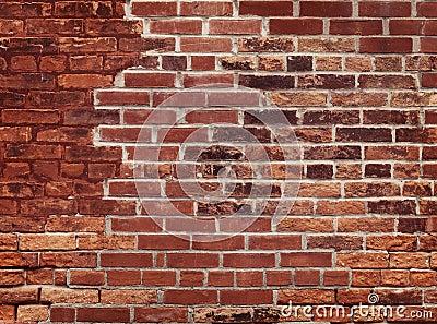 Vieux mur de briques rouge photographie stock libre de - Mur de brique rouge interieur ...