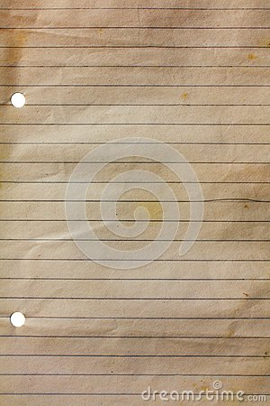Vieux papier de cahier