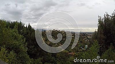 Vieux scape de ville de ville de Bergame - destinations italiennes de voyage - laps de temps banque de vidéos