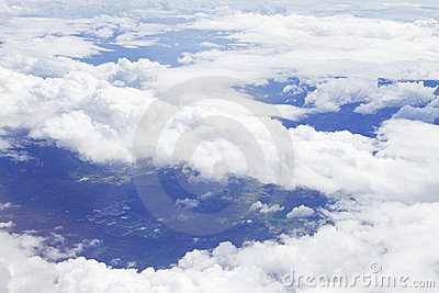 View above the earth